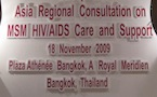 First ever consultation on MSM HIV/AIDS Care & Support held in Bangkok