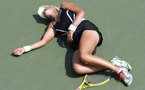 Dramatic exit: Victoria Azarenka