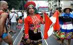 在印加古城和彩虹旗相认