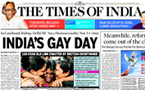 Indian media applauds court's decision to legalise gay sex