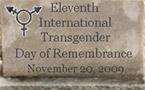 International Transgender Day of Remembrance, Nov 20