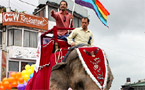 Hundreds join Nepal's first international gay pride parade