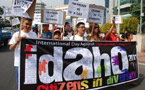 Indonesian LGBT groups march in Jakarta to commemorate IDAHO
