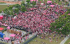 Over ten thousand turn Hong Kong's Tamar Park pink in the name of LGBT equality