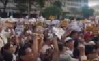 臺灣數萬人抗議同性婚姻