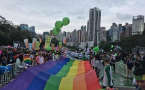 Hong Kongers brave the rain for annual gay pride parade
