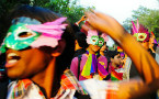Gay Pride March in New Delhi Draws Hundreds