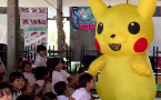 Drag Race Thailand host dresses as Pikachu to entertain refugee kids
